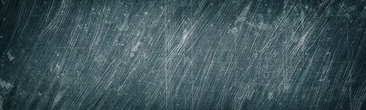 Free Aged Gray Scratched And Stained Metal Wide Texture. Shabby Metallic Surface Panorama. Dark Retro Grunge Panoramic Background Stock Photos - 149919063