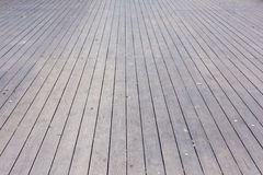 Aged gray wooden terrace floor background Royalty Free Stock Images