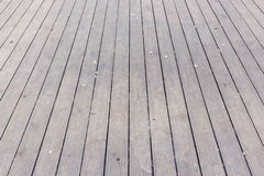 Aged gray wooden terrace floor background Royalty Free Stock Photo