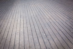 Aged gray wooden terrace floor background Royalty Free Stock Image