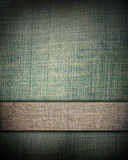 Aged green fabric with bar as vintage background Royalty Free Stock Image