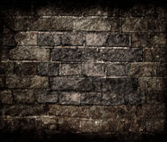 Aged grunge brick wall texture Stock Photography
