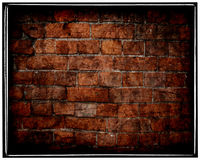 Aged grunge cracked brick wall Royalty Free Stock Photos