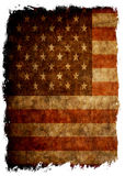 Aged grunge flag of USA. Close up Royalty Free Stock Photography