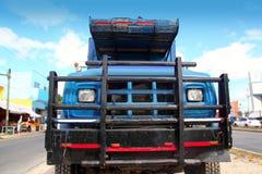 Aged grunge old truck under  blue sky Stock Image