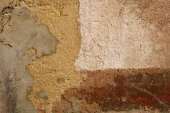 Aged grunge paint old wall background Royalty Free Stock Image