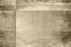 Aged grunge paper with folds. Old vintage distressed paper grunge in brown tones with folds Royalty Free Stock Photos
