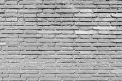 Aged grunge white brick wall texture as background Royalty Free Stock Image