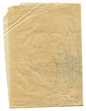 Aged gunge vellum paper Royalty Free Stock Photo