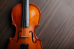 Aged handmade violin Royalty Free Stock Photo