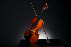 Aged handmade violin Stock Photography