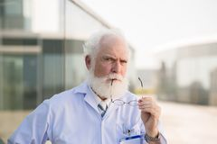 Aged head physician Royalty Free Stock Photography