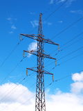 Aged high voltage power tower Stock Image