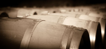 Aged image of old winemakers Stock Photo