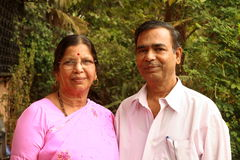 Aged Indian couple Stock Photography