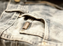 Aged jeans Stock Photography