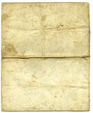 Aged letter paper. Vintage letter paper from 20'th century stock images