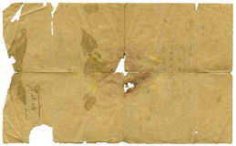 Aged Letter Paper Royalty Free Stock Photos