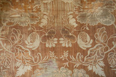 Aged light brown denim cotton fabric. From above Stock Images