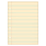Aged lined paper Royalty Free Stock Photo