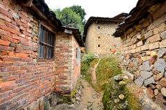 Aged local residence in countryside of South of China. Aged local residence with small path in countryside of South of China, shown as various residence Royalty Free Stock Images