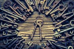 Aged locks nad keys Stock Photos