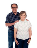 Aged love couple posing with smile Stock Image