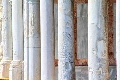 Aged Marble Columns Royalty Free Stock Images