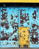 Aged metal door Stock Photos