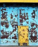 Aged metal door Stock Photos