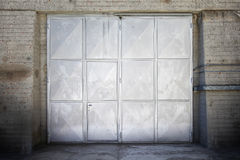 Aged metal door Stock Images