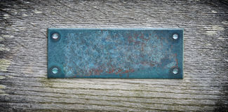 Aged metal plate Royalty Free Stock Photography