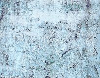 Aged Metal Surface Painted by White and Blue Colors Stock Photos