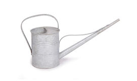 Aged metallic watering can isolated Stock Photography