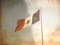 Aged Mexican Flag Stock Images