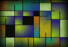 Aged Mondrian Like Painting Royalty Free Stock Image