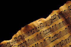 Aged music background Royalty Free Stock Images