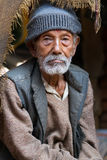 Aged Nepalese man Royalty Free Stock Image