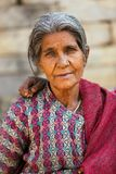 Aged Nepalese woman Stock Images