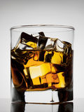 Aged noble glass of whiskey Royalty Free Stock Photos
