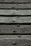Aged Oak Planks on Old Bridge at Castell y Bere, Wales Royalty Free Stock Photo