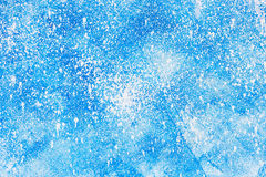 Aged old blue board snow color paint texture Stock Images