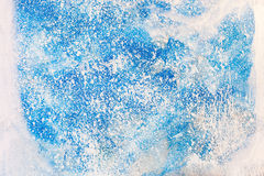 Aged old blue board snow color paint texture Royalty Free Stock Photography