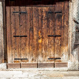 Aged old doors Royalty Free Stock Photo