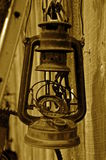 Aged old gas lantern Royalty Free Stock Images