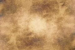 Aged old style vintage background. Old photo texture illustration stylization in sepia colors with blots, stains and scratches. Aged old style vintage stock photography