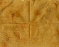 Aged Old Wrinkled Paper Royalty Free Stock Photos