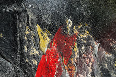 Aged paint on grunge dirty metal surface Abstract texture backgr Royalty Free Stock Photo