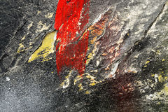 Aged paint on grunge dirty metal surface Abstract texture backgr Royalty Free Stock Photos