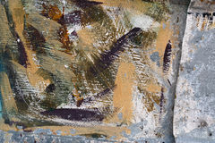 Aged paint on grunge dirty metal surface Abstract texture backgr Royalty Free Stock Images